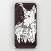 bull terrier iPhone & iPod Skins featuring BULL  by Michael Todd Berland