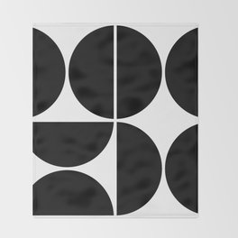 Mid Century Modern Black Square Throw Blanket