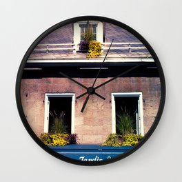 Signs: Jardin Nelson Wall Clock