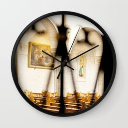 Abstract Hearts in Church, Israel  Wall Clock