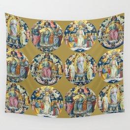 """Raffaello Sanzio da Urbino """"Ceiling Of The Stanza Dell Incendio Del Borgo"""" Wall Tapestry"""