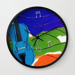 Waves of Music Wall Clock