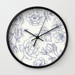 Vintage Roses x Springflowers Wall Clock