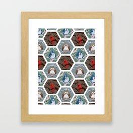 Fat Birds Pattern Framed Art Print