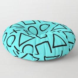 Memphis pattern 68 Floor Pillow