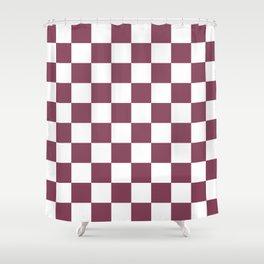 Purple, Mulberry: Checkered Pattern Shower Curtain