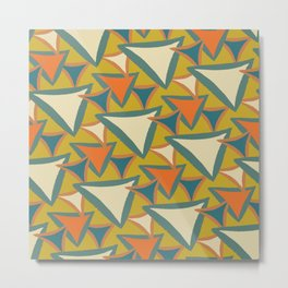 Decades Young 70's Living Room Triangles Metal Print