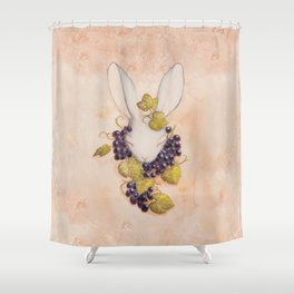 Rabbit and Grapes Shower Curtain