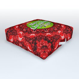 Merry Christmas with Love Outdoor Floor Cushion