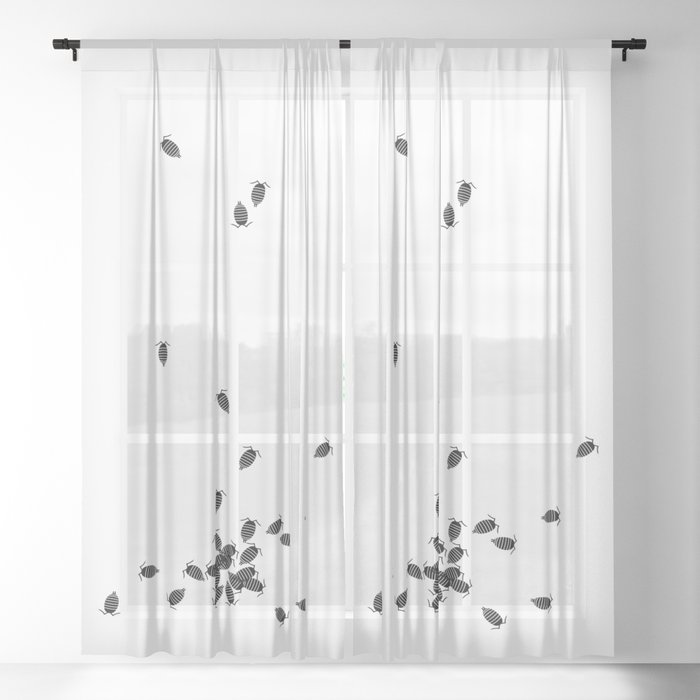 Bugs: abstract Isopod Sheer Curtain