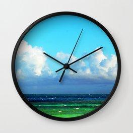 Cuban Waters Wall Clock