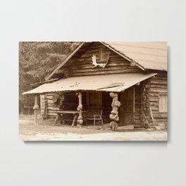 Old Log Cabin Metal Print