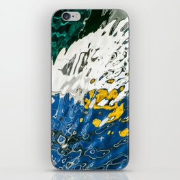 Yellow Blue Green Abstract iPhone Skin