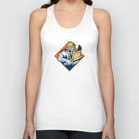 gladiator Tank Tops featuring Gladiator With Sword And Shield by retrovectors
