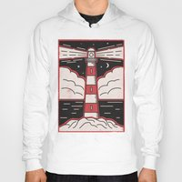 lighthouse Hoodies featuring Lighthouse by Andy Rogerson