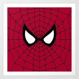 Spider man superhero Art Print