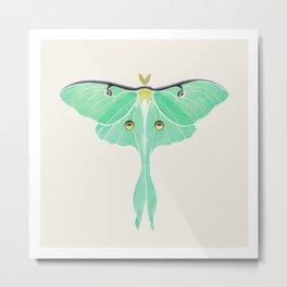 Luna Moth (Actias luna) watercolor painting Metal Print
