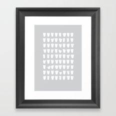 Polystyrene cups Framed Art Print
