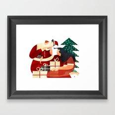 CRISTMAS FAMILY Framed Art Print