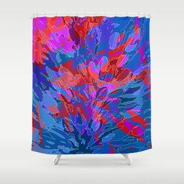 exploding coral Shower Curtain