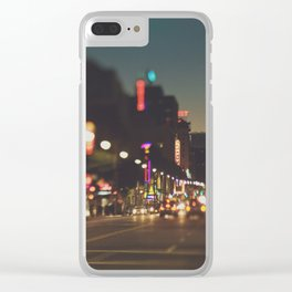 Hollywood Boulevard. Los Angeles Clear iPhone Case