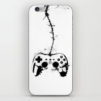 gaming iPhone & iPod Skins featuring Gaming Console by Thea Isla Design