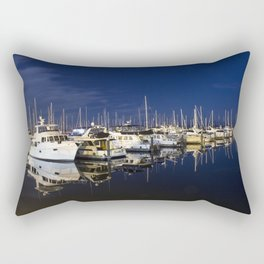 Midnight Marina Rectangular Pillow