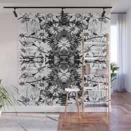 Noir Sunflower Explosion Zoom Wall Mural