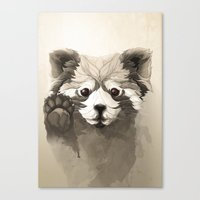 red panda Canvas Prints featuring Red Panda by Rafapasta