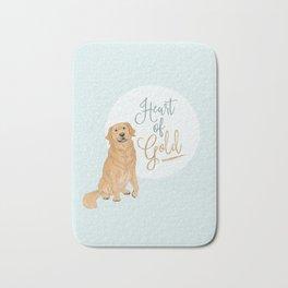 Heart of Gold // Golden Retriever Bath Mat