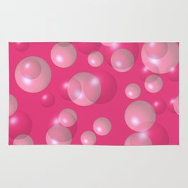 Pink bubbles Rug