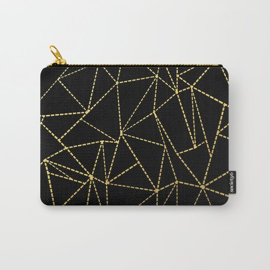 Ab Dotted Gold Carry-All Pouch