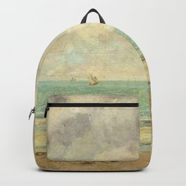 The Calm Sea - Gustave Courbet Backpack
