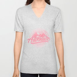 Dream Explore Discover Adventure Is Out There pw Unisex V-Neck
