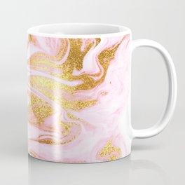 Rose Gold Marble Agate Geode Coffee Mug