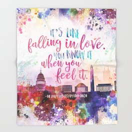The Lovely Reckless - Like Falling in Love Throw Blanket