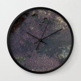 Underwater Rock Pool with Purple Seaweed Wall Clock