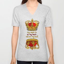 My crown is in my heart Unisex V-Neck