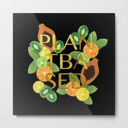 Plant Based Fruit Metal Print