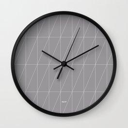 Grey Triangles by Friztin Wall Clock