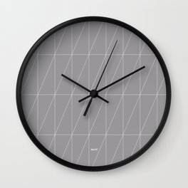 Grey Triangles by Friztin Wall Clock