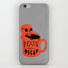 Death Before Decaf iPhone & iPod Skin