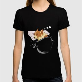 Corgi Sleeping Animal Nap Napping Slumber T-shirt