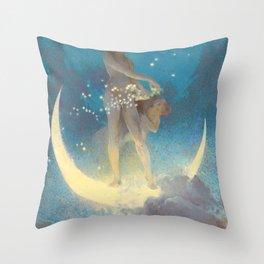 "Edwin Blashfield ""Spring Scattering Stars"" Throw Pillow"