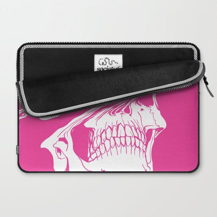 Liquify skull in hot pink Laptop Sleeve