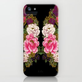 80's Peonies iPhone Case