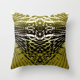 Shield of Gold Palms Throw Pillow