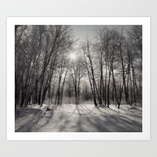 Winter reflection ~ Black & White Art Print