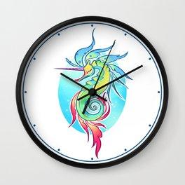Sea Unicorn Wall Clock