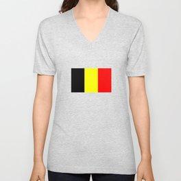 Drapeau Belgique Unisex V-Neck
